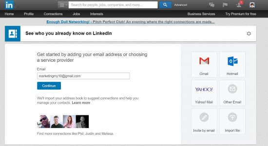 Linkedin Tools 1. Upload Email List To Add Connections on LinkedIn