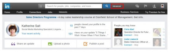 Linkedin Tools 8. Use Advanced Search To Find More LinkedIn Connections