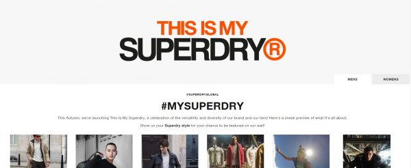 Superdry hashtag competition
